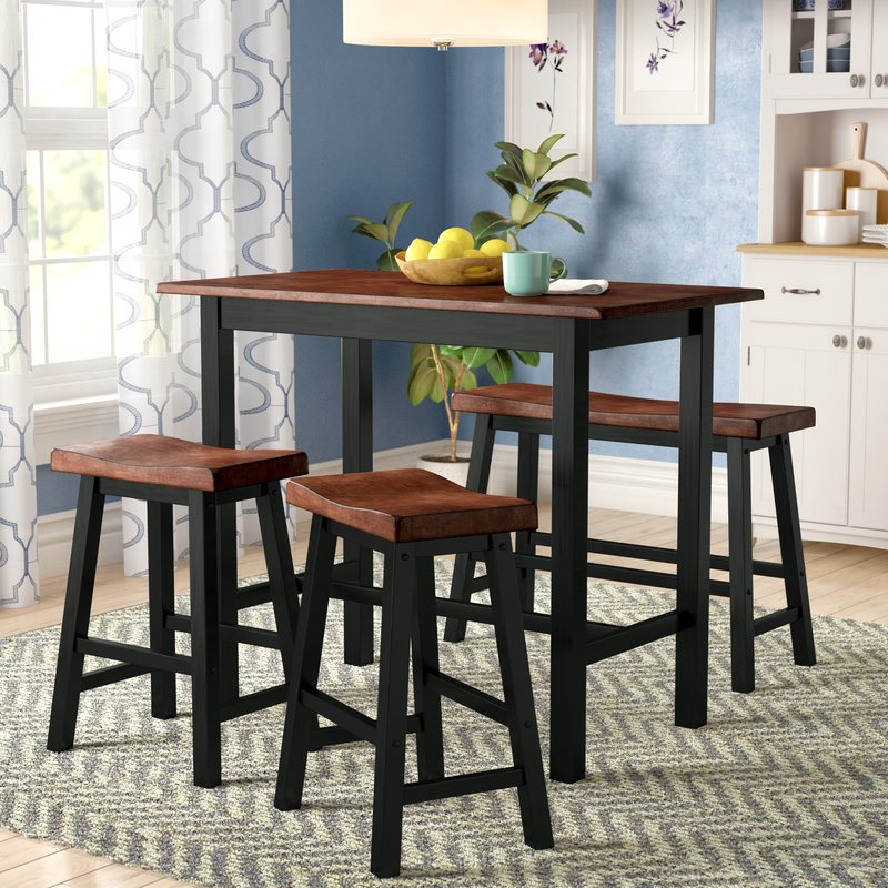 Featured Photo of Winsted 4 Piece Counter Height Dining Sets
