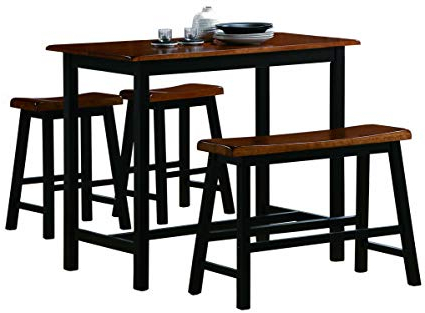 Winsted 4 Piece Counter Height Dining Sets With Trendy Amazon – Crown Mark Tyler 4 Piece Counter Height Table Set (View 4 of 20)