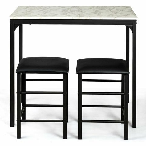 Winston Porter Miskell 3 Piece Dining Set (View 18 of 20)