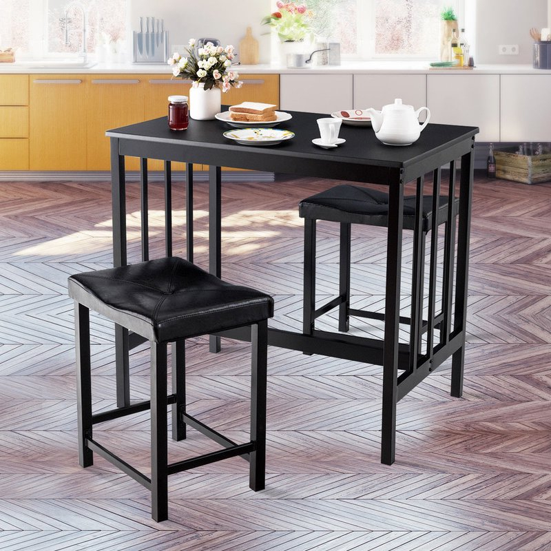 Winston Porter Miskell 3 Piece Dining Set (View 19 of 20)