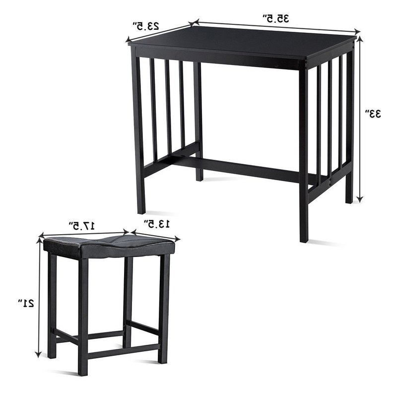 Winston Porter Miskell 3 Piece Dining Set (View 13 of 20)