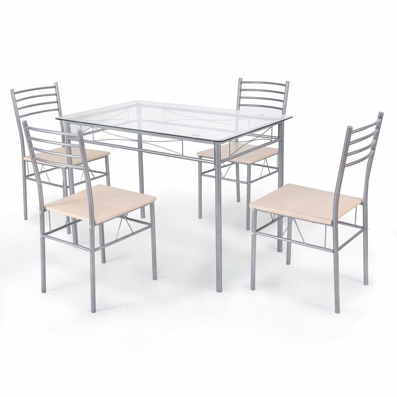 Winston Porter Stouferberg 5 Piece Dining Set (Gallery 1 of 20)
