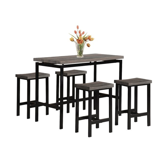Wrought Studio Denzel 5 Piece Counter Height Breakfast Nook Dining Inside Trendy Denzel 5 Piece Counter Height Breakfast Nook Dining Sets (View 20 of 20)