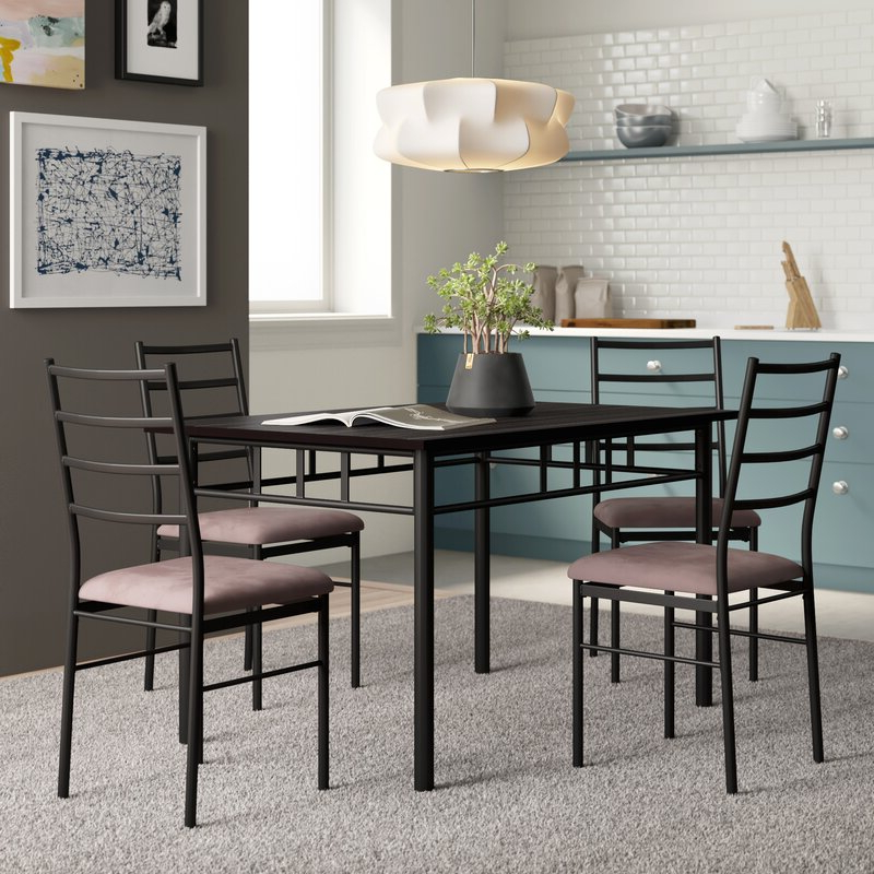 Zipcode Design Jarrod 5 Piece Dining Set & Reviews (View 12 of 20)