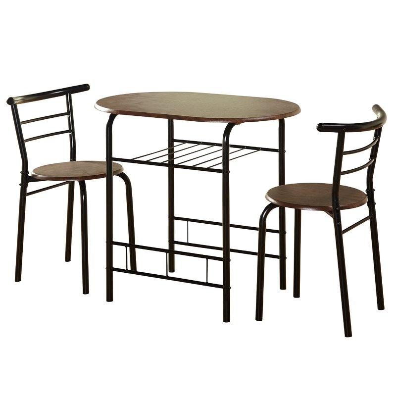 Zipcode Design Volmer 3 Piece Compact Dining Set & Reviews (Gallery 9 of 20)