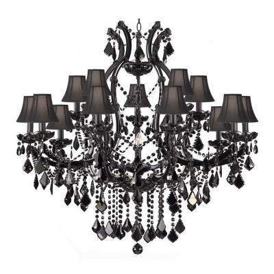 2017 Black – Chandeliers – Lighting – The Home Depot With Regard To Thresa 5 Light Shaded Chandeliers (View 17 of 25)