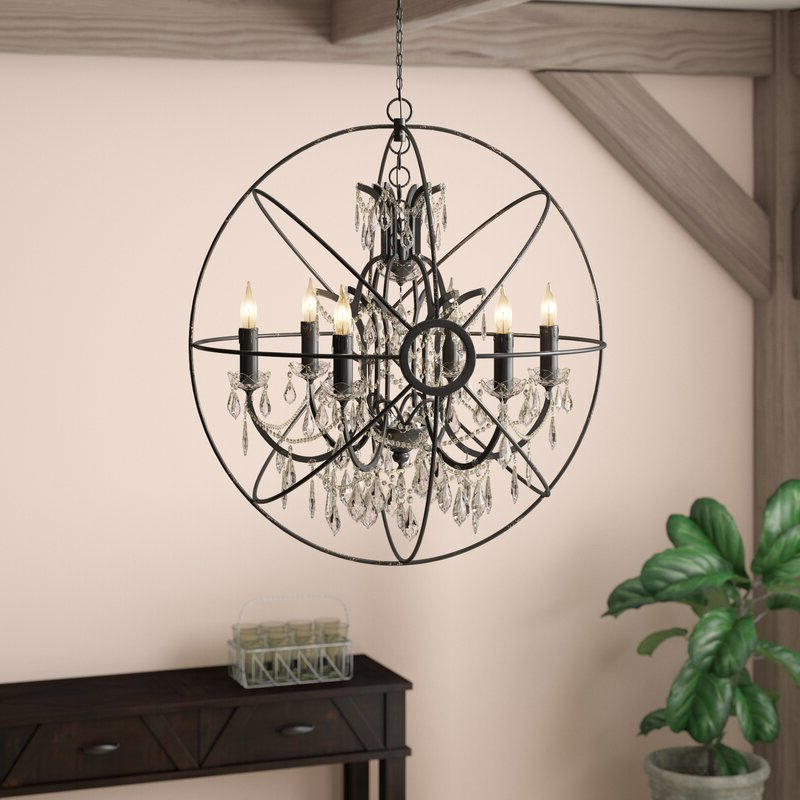 2017 Cearbhall 6 Light Globe Chandelier With Eastbourne 6 Light Unique / Statement Chandeliers (View 1 of 25)