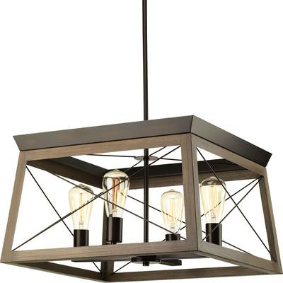 2017 Delon 4 Light Square Chandelier & Reviews (Gallery 14 of 25)
