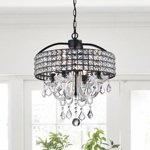 2017 Faux Crystal Chandelier (View 8 of 25)