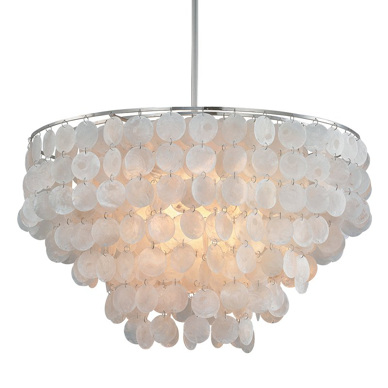 2017 Henry 6 Light Crystal Chandelier In Bramers 6 Light Novelty Chandeliers (View 2 of 25)