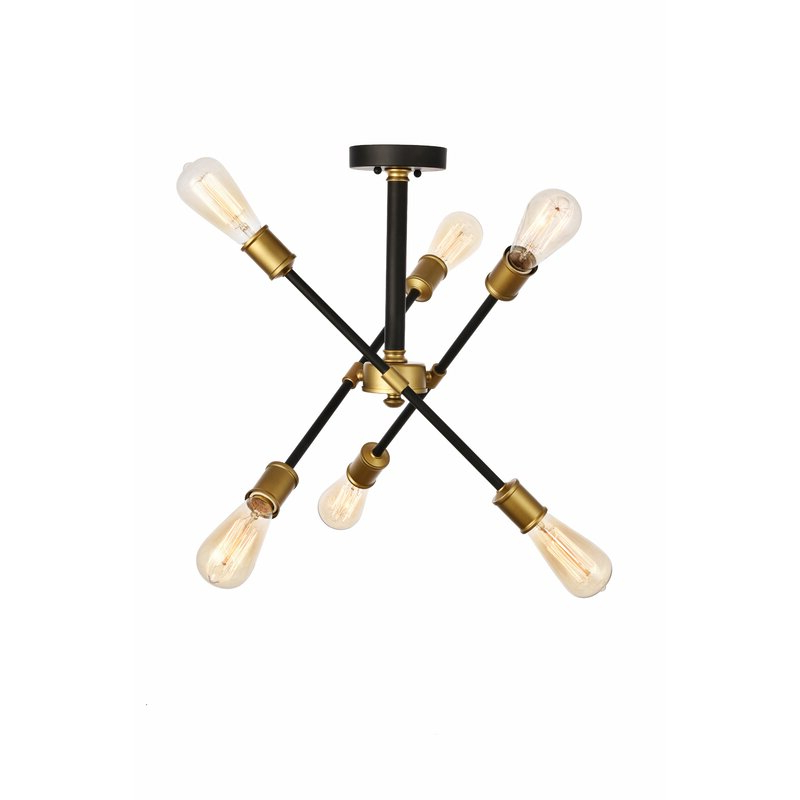 2017 Johanne 6 Light Sputnik Chandelier Regarding Johanne 6 Light Sputnik Chandeliers (Gallery 4 of 25)