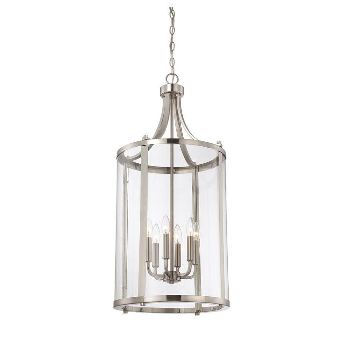 2017 Tessie 3 Light Lantern Cylinder Pendants Throughout Brookville 6 Light Lantern Cylinder Pendant (Gallery 11 of 25)