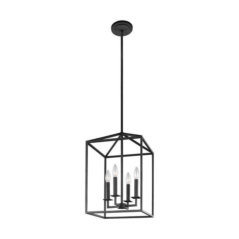 2017 Thorne 4 Light Lantern Rectangle Pendants In Odie 4 Light Lantern Square/rectangle Pendant (Gallery 17 of 25)