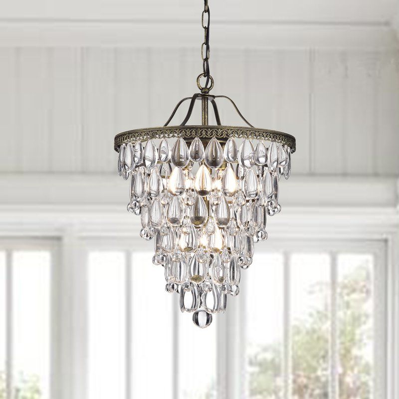 2017 Totnes 4 Light Crystal Chandelier Pertaining To Benedetto 5 Light Crystal Chandeliers (View 20 of 25)