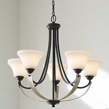 2018 Abid 5 Light Shaded Chandelier With Berger 5 Light Candle Style Chandeliers (View 1 of 25)