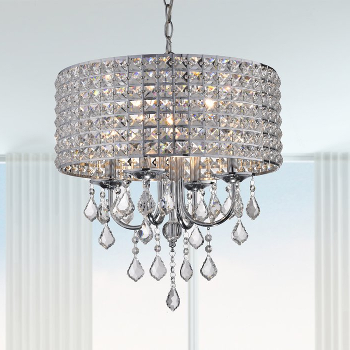 2018 Albano 4 Light Crystal Chandelier In Albano 4 Light Crystal Chandeliers (View 6 of 25)