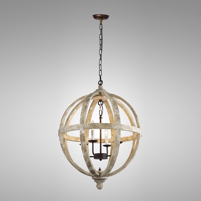2018 Cavanagh 4 Light Geometric Chandeliers Inside Ryne 4 Light Globe Chandelier (View 2 of 25)