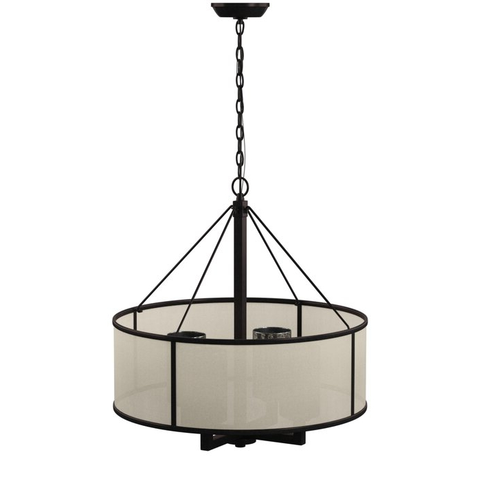2018 Dailey 4 Light Drum Chandeliers With Dailey 4 Light Drum Chandelier (View 3 of 25)