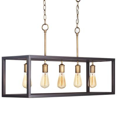 2018 Farmhouse – Chandeliers – Lighting – The Home Depot Pertaining To Kenna 5 Light Empire Chandeliers (View 3 of 25)