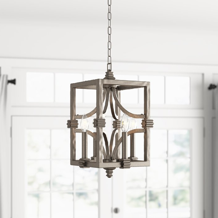 2018 Freeburg 4 Light Lantern Square / Rectangle Pendant Within Freeburg 4 Light Lantern Square / Rectangle Pendants (Gallery 1 of 25)