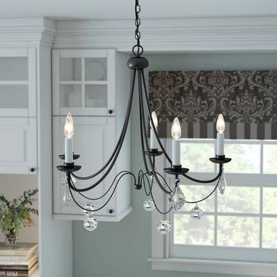 2018 Hamza 6 Light Candle Style Chandeliers For Hamza 6 Light Candle Style Chandelier In  (View 1 of 25)