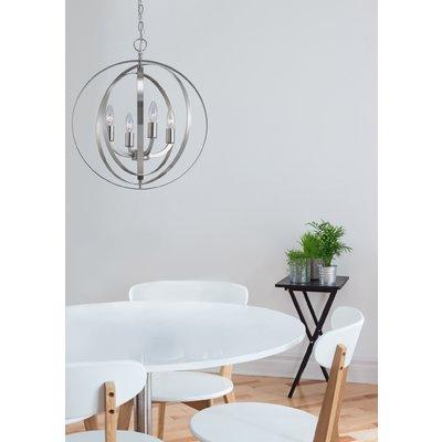 2018 Hendry 4 Light Globe Chandelier (Gallery 10 of 25)