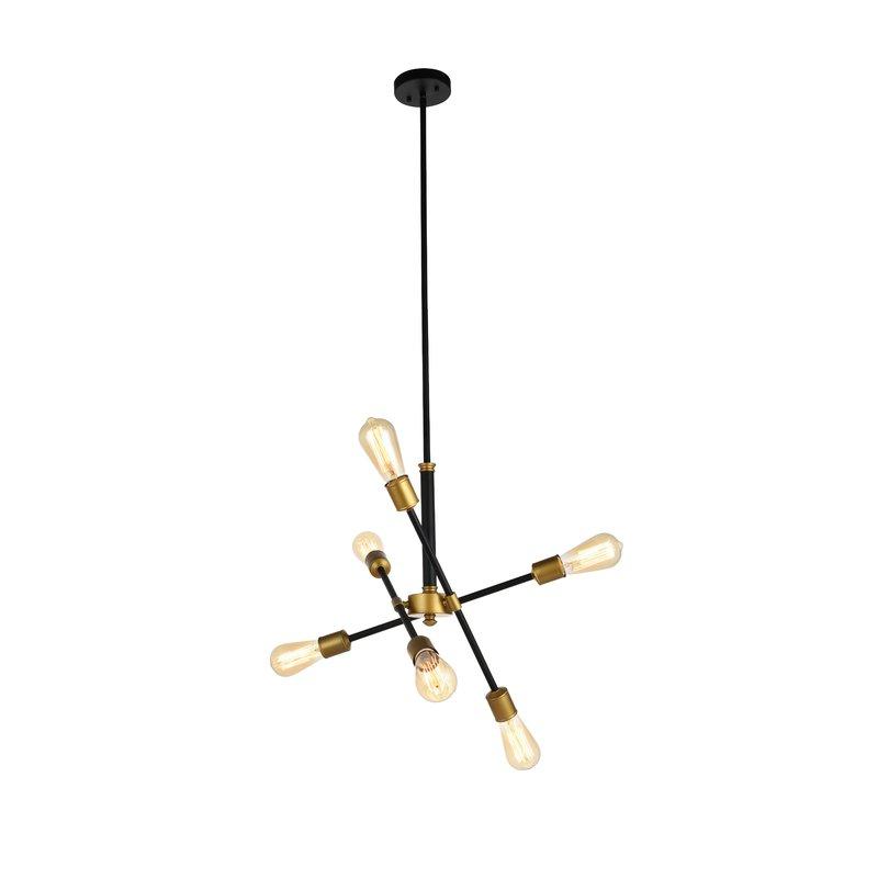 2018 Johanne 6 Light Sputnik Chandeliers With Regard To Johanne 6 Light Sputnik Chandelier (Gallery 1 of 25)
