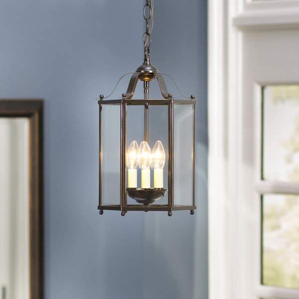 Featured Photo of Leiters 3 Light Lantern Geometric Pendants