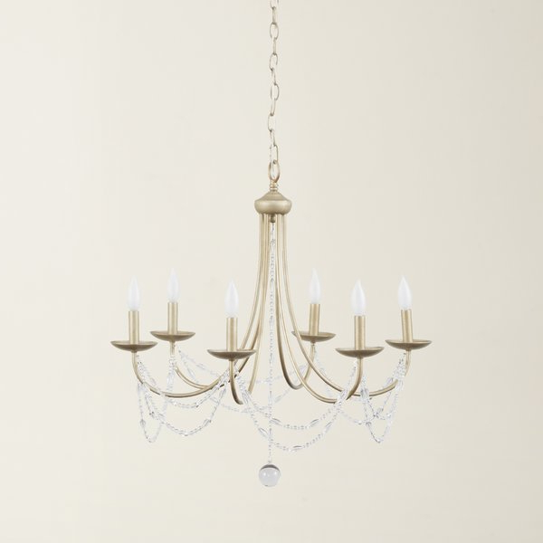 2018 Nantucket 6 Light Candle Style Chandelier For Diaz 6 Light Candle Style Chandeliers (Gallery 6 of 25)