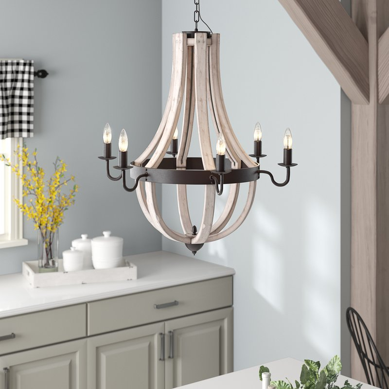 2018 Phifer 6 Light Empire Chandelier With Regard To Phifer 6 Light Empire Chandeliers (View 2 of 25)
