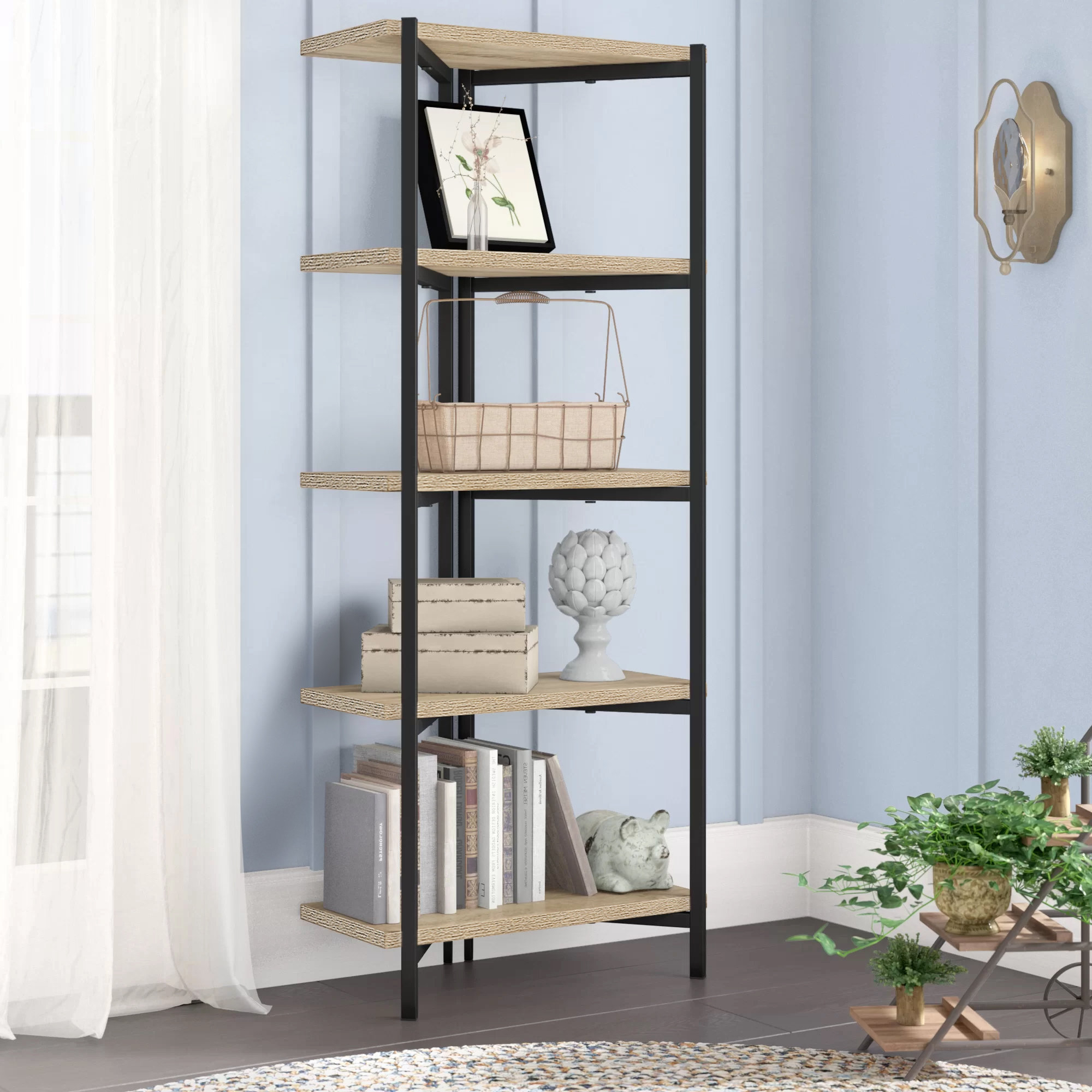 2019 Bronson Etagere Bookcase Inside Aptos Etagere Bookcases (View 8 of 20)