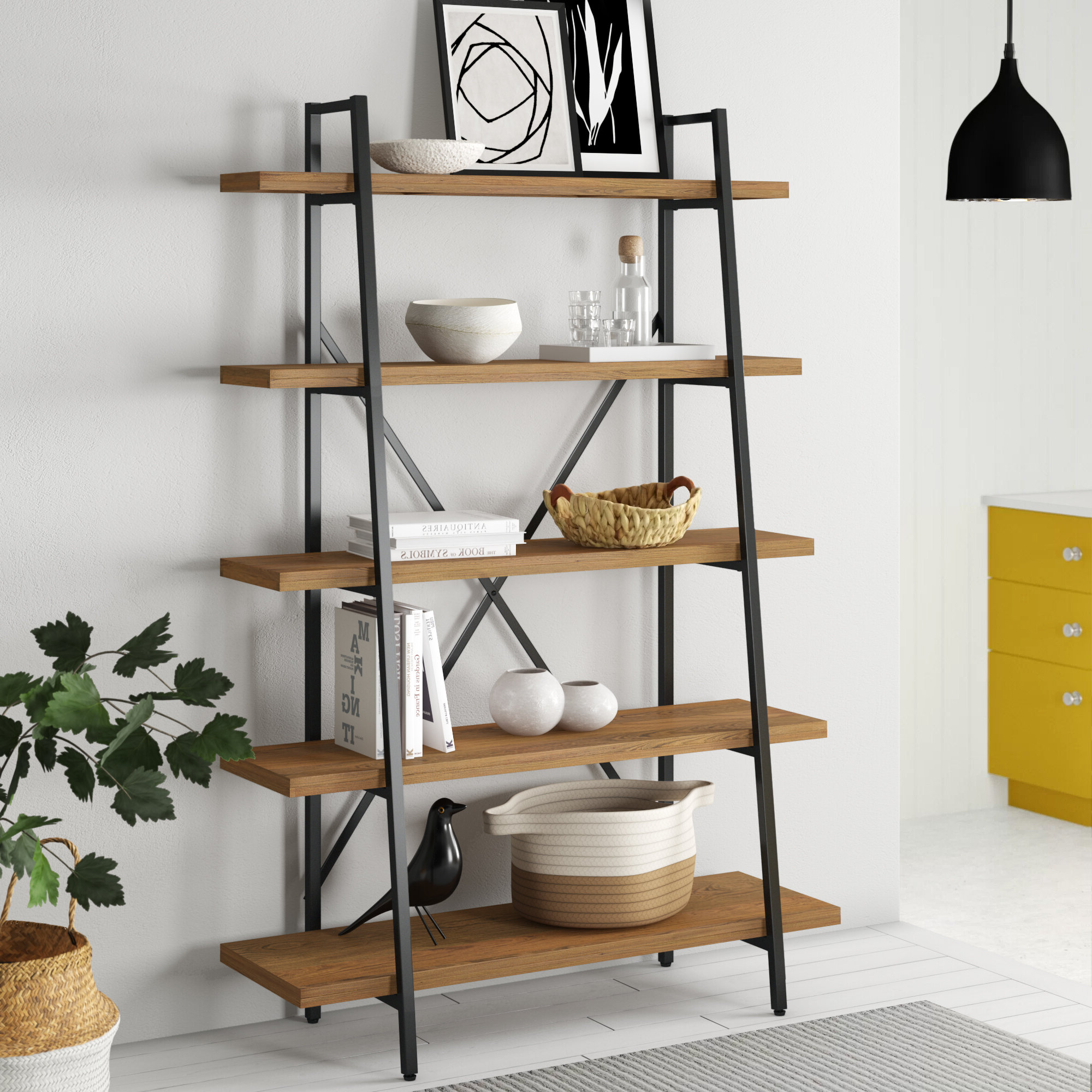 2019 Champney Etagere Bookcase Within Whidden Etagere Bookcases (View 8 of 20)
