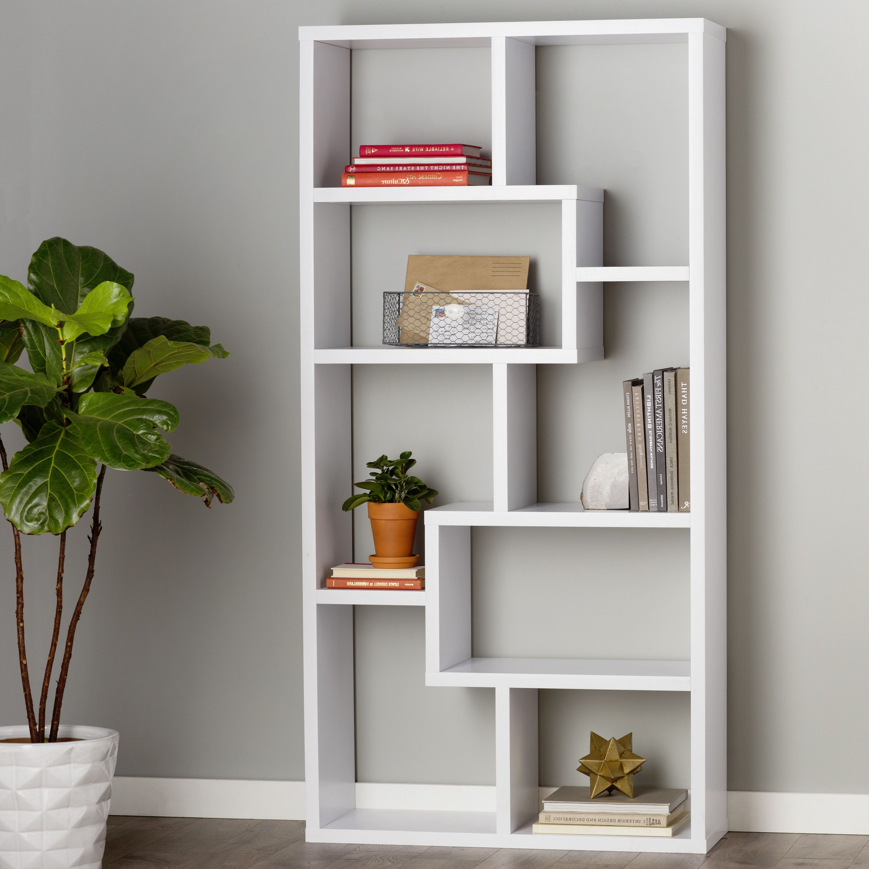 2019 Chrysanthos Etagere Bookcase In 2019 (Gallery 11 of 20)