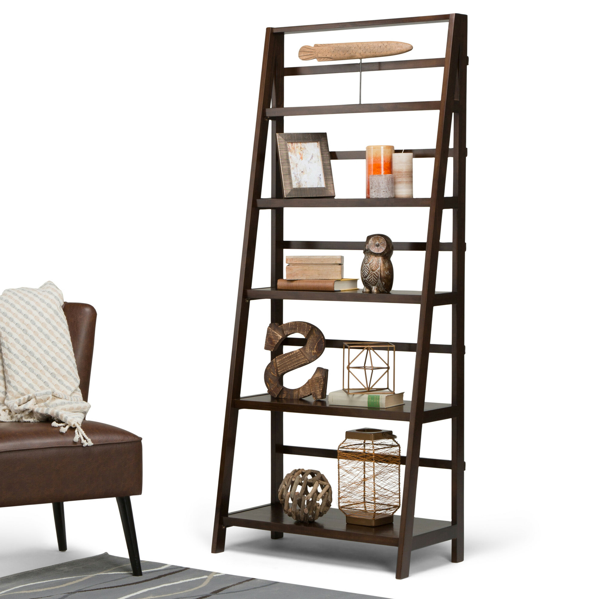 2019 Mayna Ladder Bookcases Inside Details About Alcott Hill Mayna Ladder Bookcase (View 1 of 20)