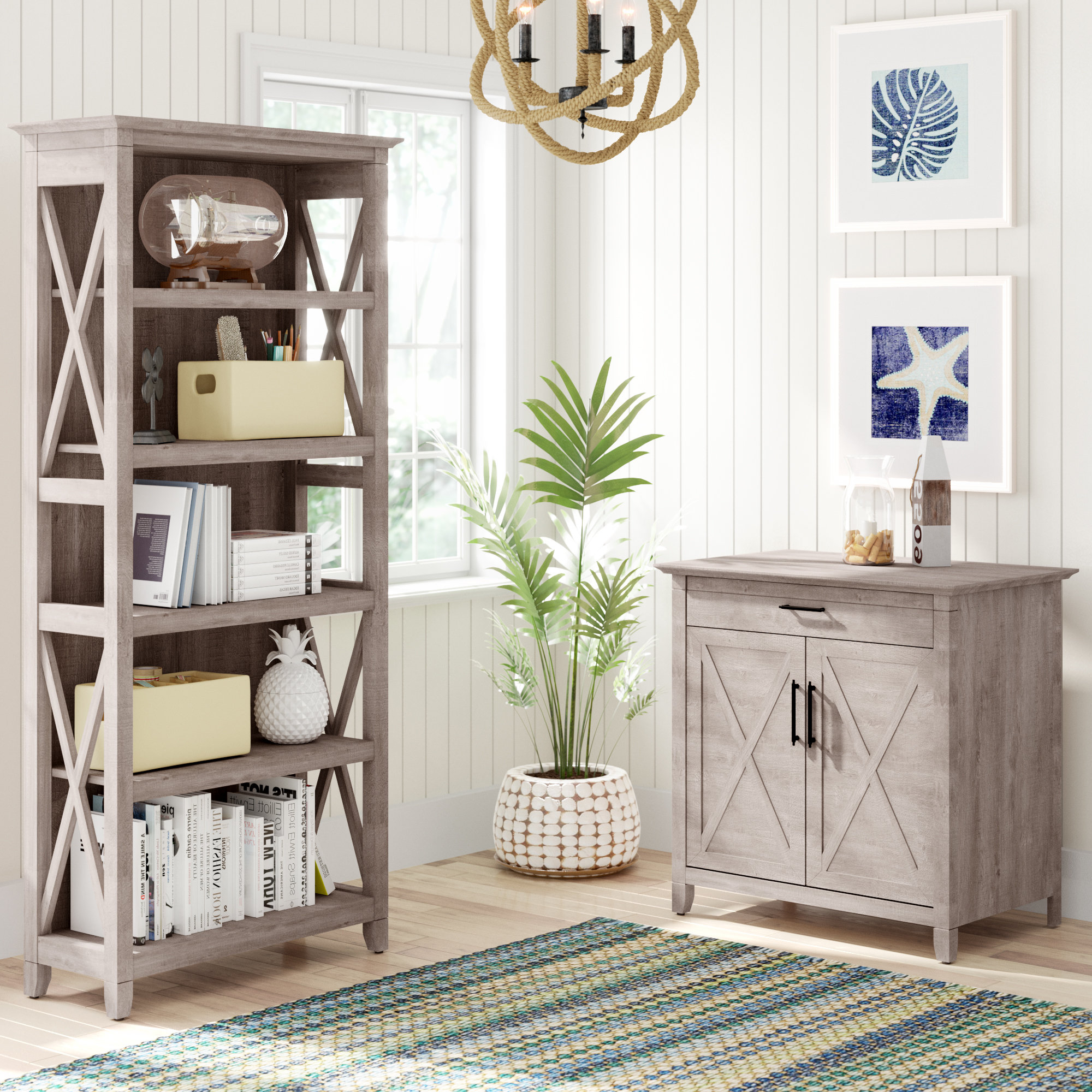 2019 Oridatown Standard Bookcases Throughout Beachcrest Home Oridatown Configurable Office Set & Reviews (View 2 of 20)