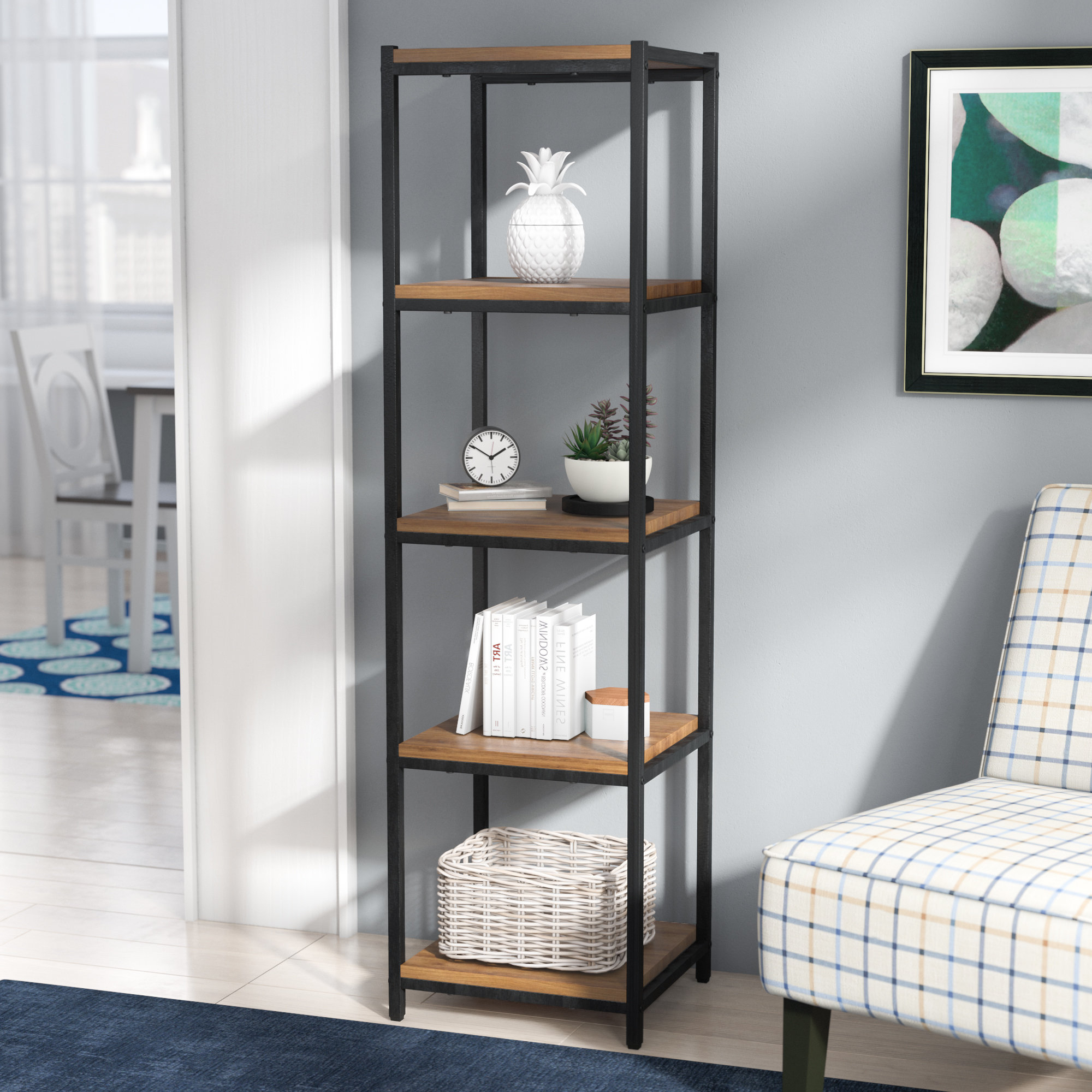 2020 Champney Modern Etagere Bookcases Within Champney Etagere Bookcase (Gallery 15 of 20)