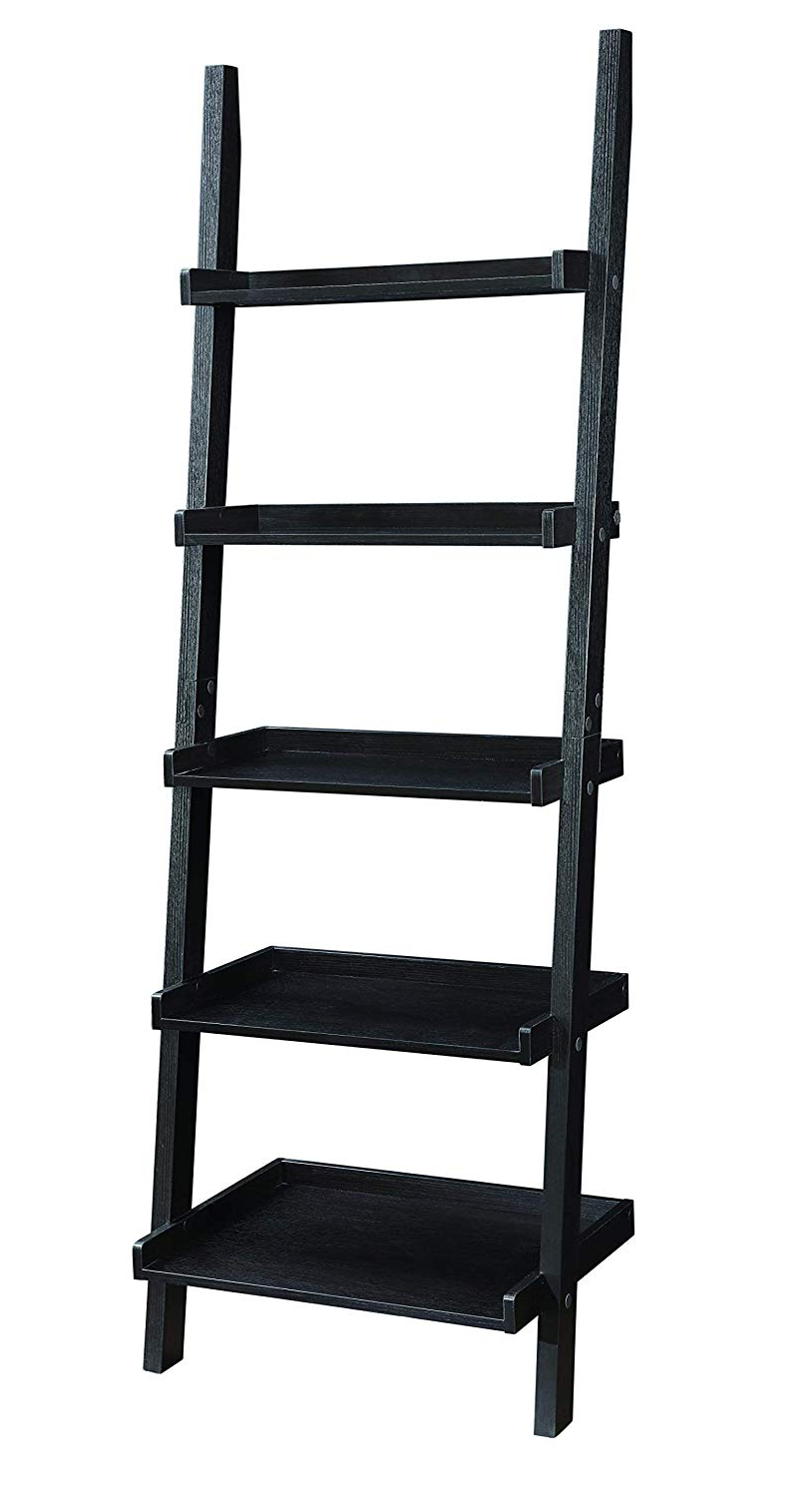 2020 Dunhill Ladder Bookcases For Coaster Home Furnishings 800338 Colella 5 Shelf Ladder Bookcase, Cappuccino (View 2 of 20)