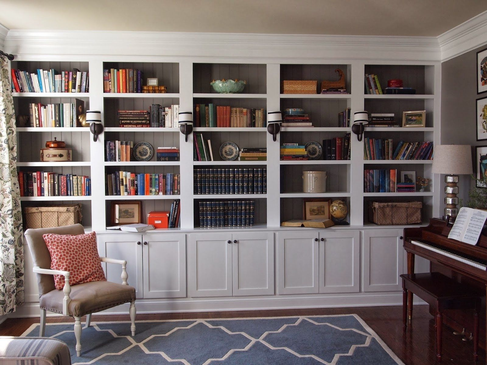 2020 Marilee Library Bookcases Within Outstanding Shelves Built Into Wall Recessed Shelving Kit (Gallery 13 of 20)