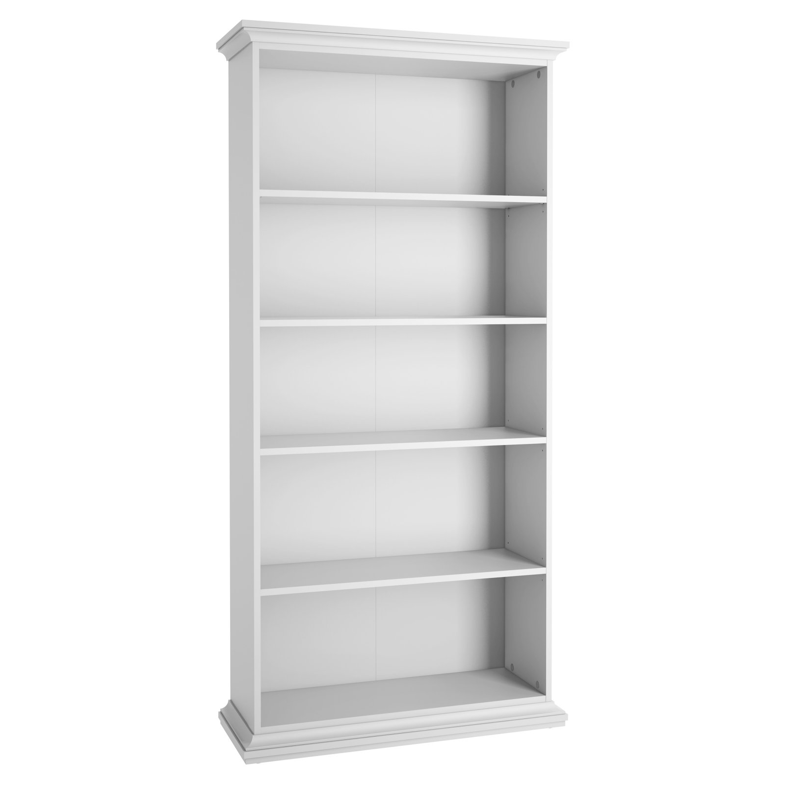 2020 Mdb Standard Bookcases Pertaining To Tvilum Maison Park Standard Bookcase – White In (View 14 of 20)