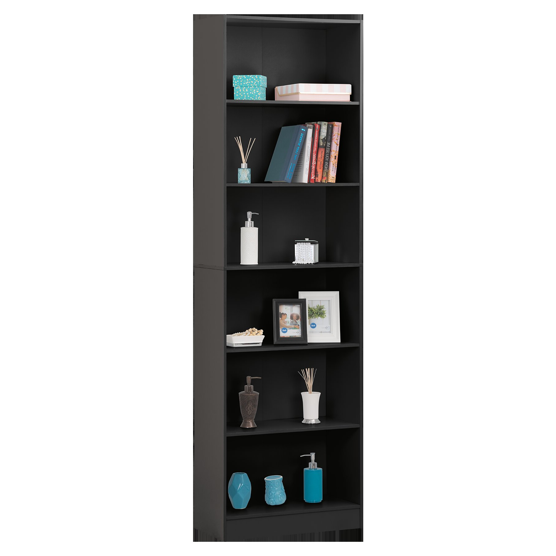 2020 Neubauer 6 Shelve Standard Bookcase Pertaining To Kiley Standard Bookcases (Gallery 18 of 20)