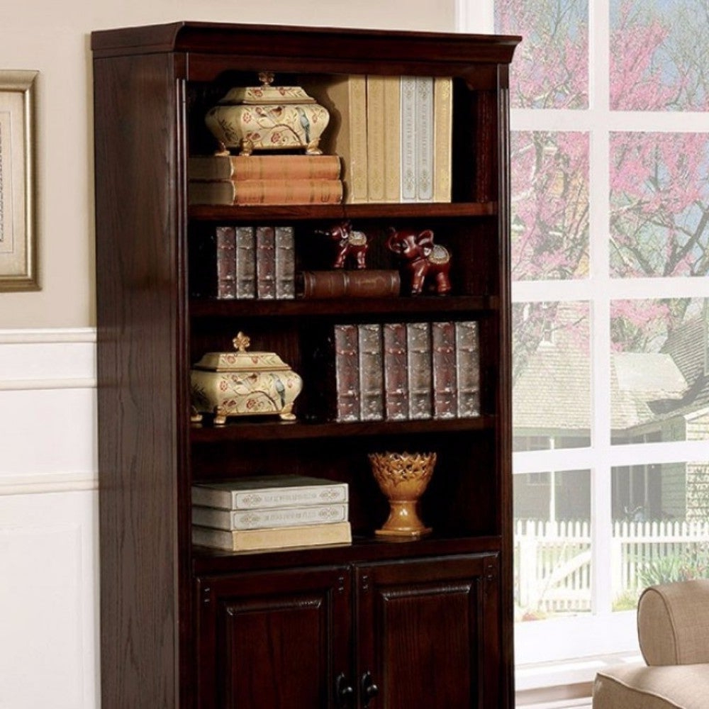 2020 Tami Standard Bookcases Within Tami Transitional Style Book Shelf With Multiple Drawers, Dark Walnut (Gallery 8 of 20)