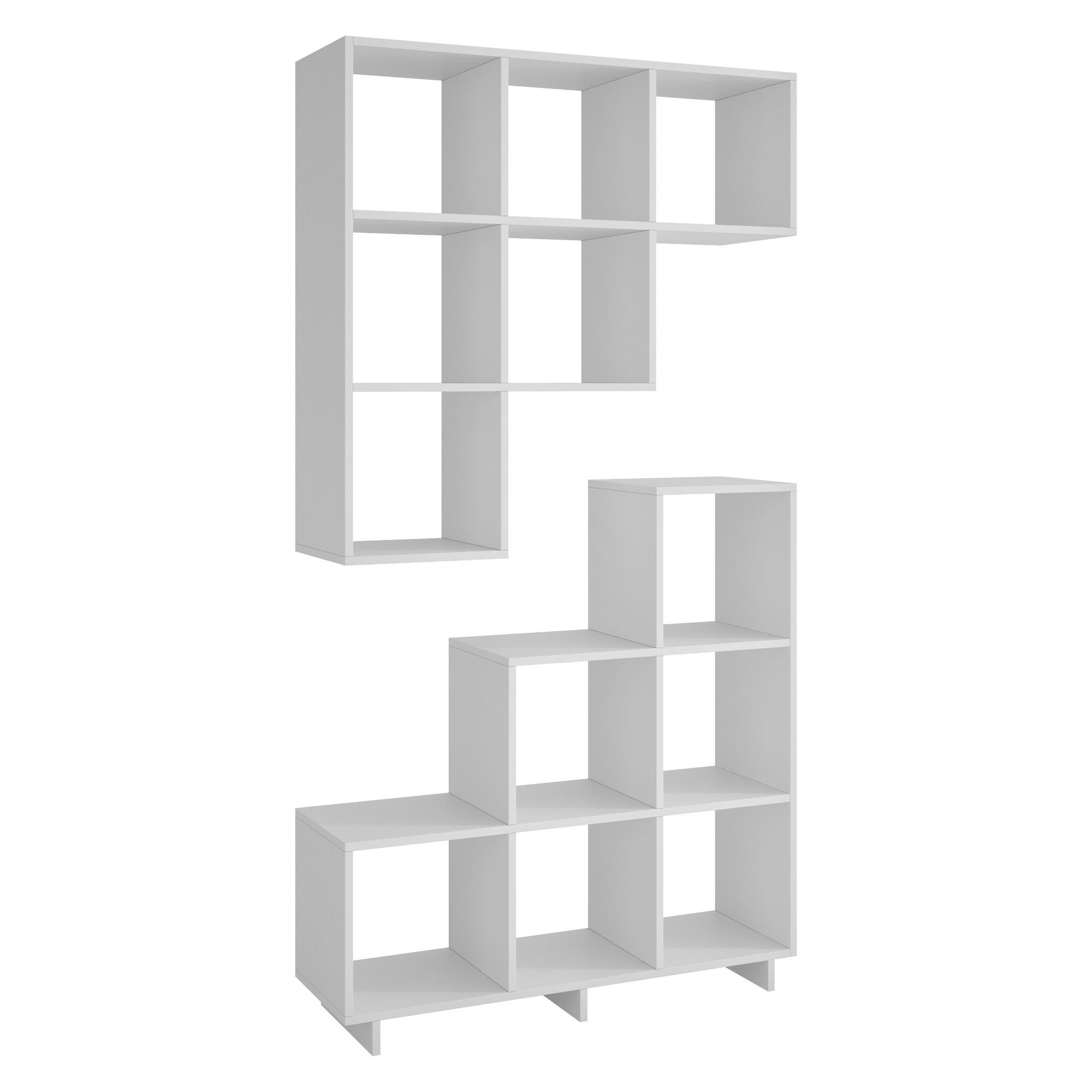 "2020 Vaccaro Geometric Bookcases Regarding 38.58"" Set Of 2 Cascavel Stair Cubby White – Manhattan (Gallery 11 of 20)"