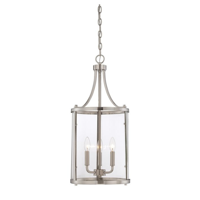 3 Light Lantern Cylinder Pendant For Newest 3 Light Lantern Cylinder Pendants (View 4 of 25)