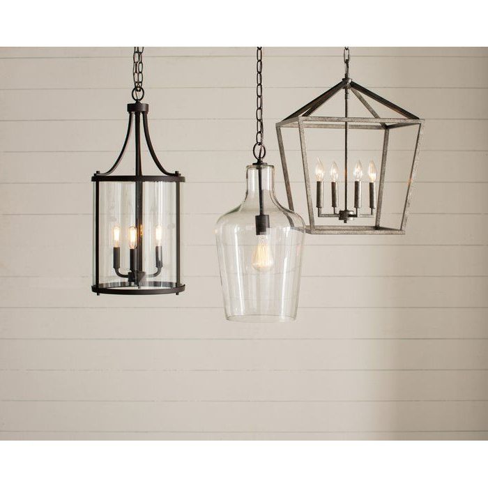 3 Light Lantern Cylinder Pendant In (View 18 of 25)
