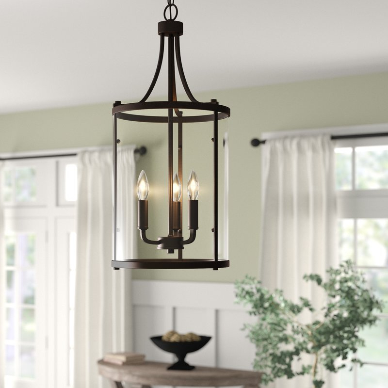 3 Light Lantern Cylinder Pendants Inside Trendy 3 Light Lantern Cylinder Pendant (View 6 of 25)