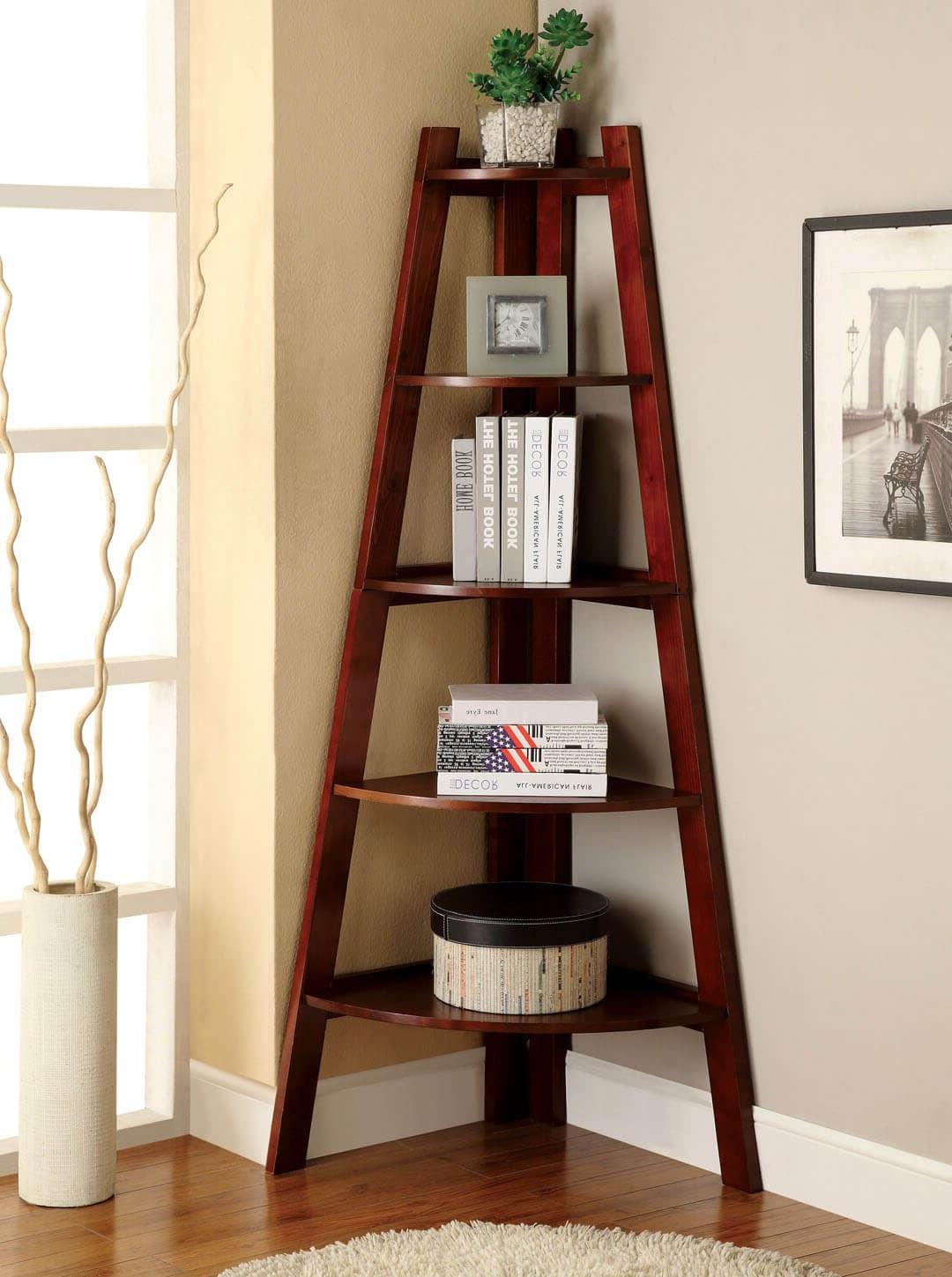 38 Handy Corner Storage Ideen, Mit Denen Sie Ihren Platz Intended For Well Known Tisha Corner Bookcases (Gallery 9 of 20)