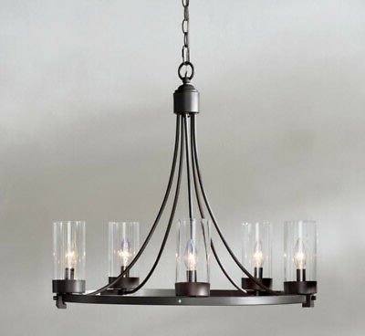 5 Light Candle Style Chandelier Farmhouse Ceiling Elevated Lighting Fixture For Fashionable Shaylee 5 Light Candle Style Chandeliers (View 4 of 25)