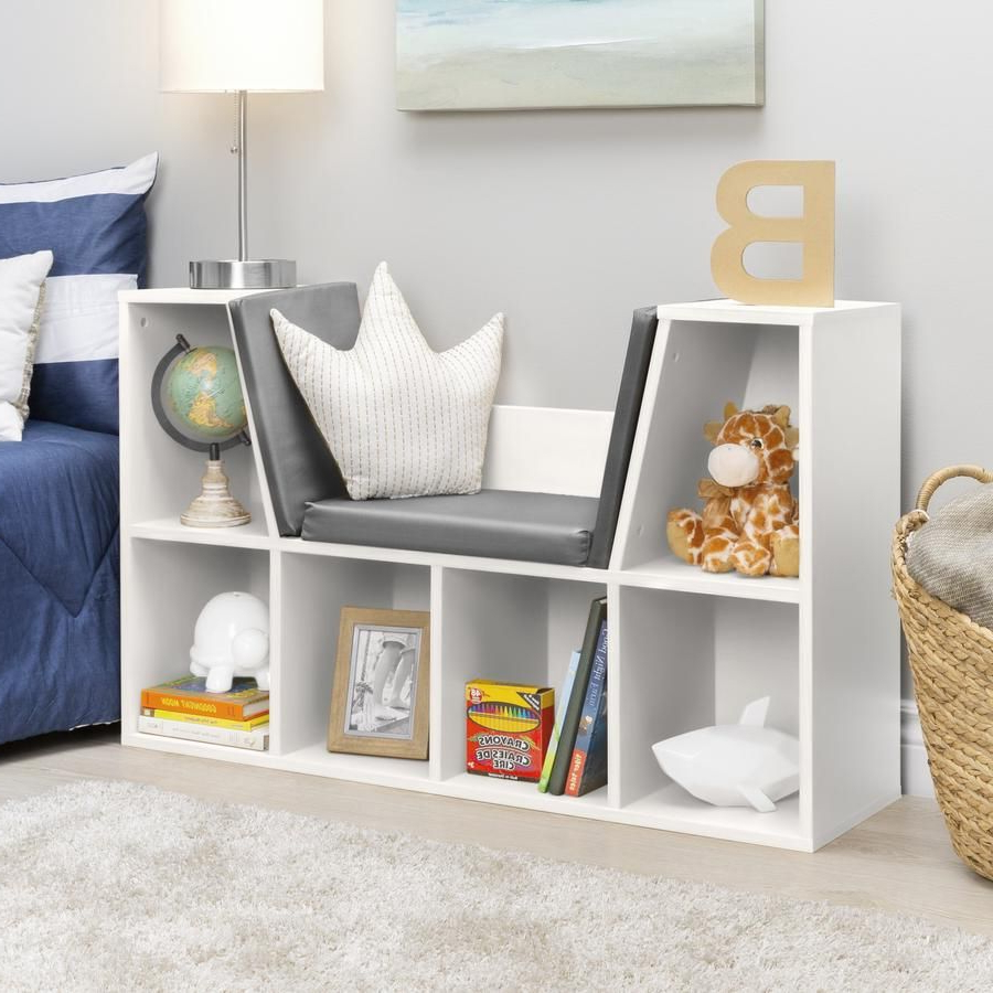 6 Cubbie Kids Bookcase Furniture Accent W/ Cushioned Reading Intended For Favorite Krausgrill Standard Bookcases (View 2 of 20)