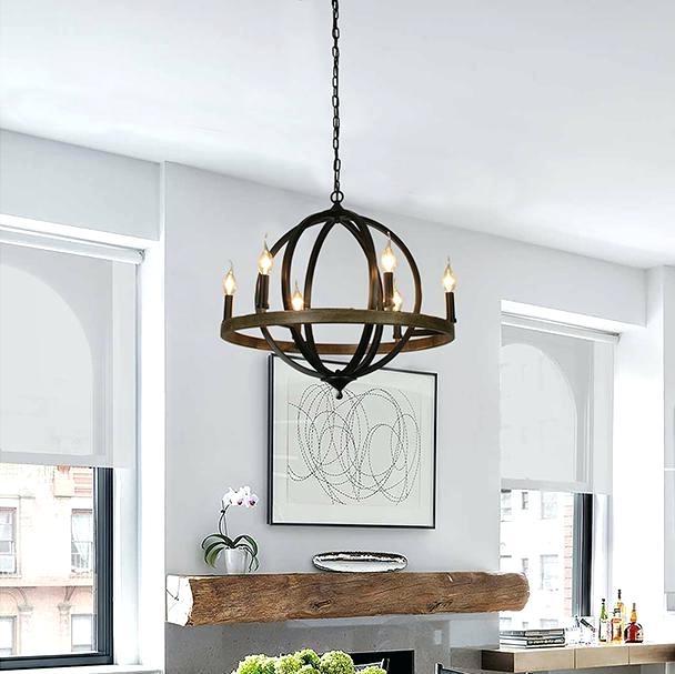 6 Light Globe Chandelier – Luwalcott (View 2 of 25)