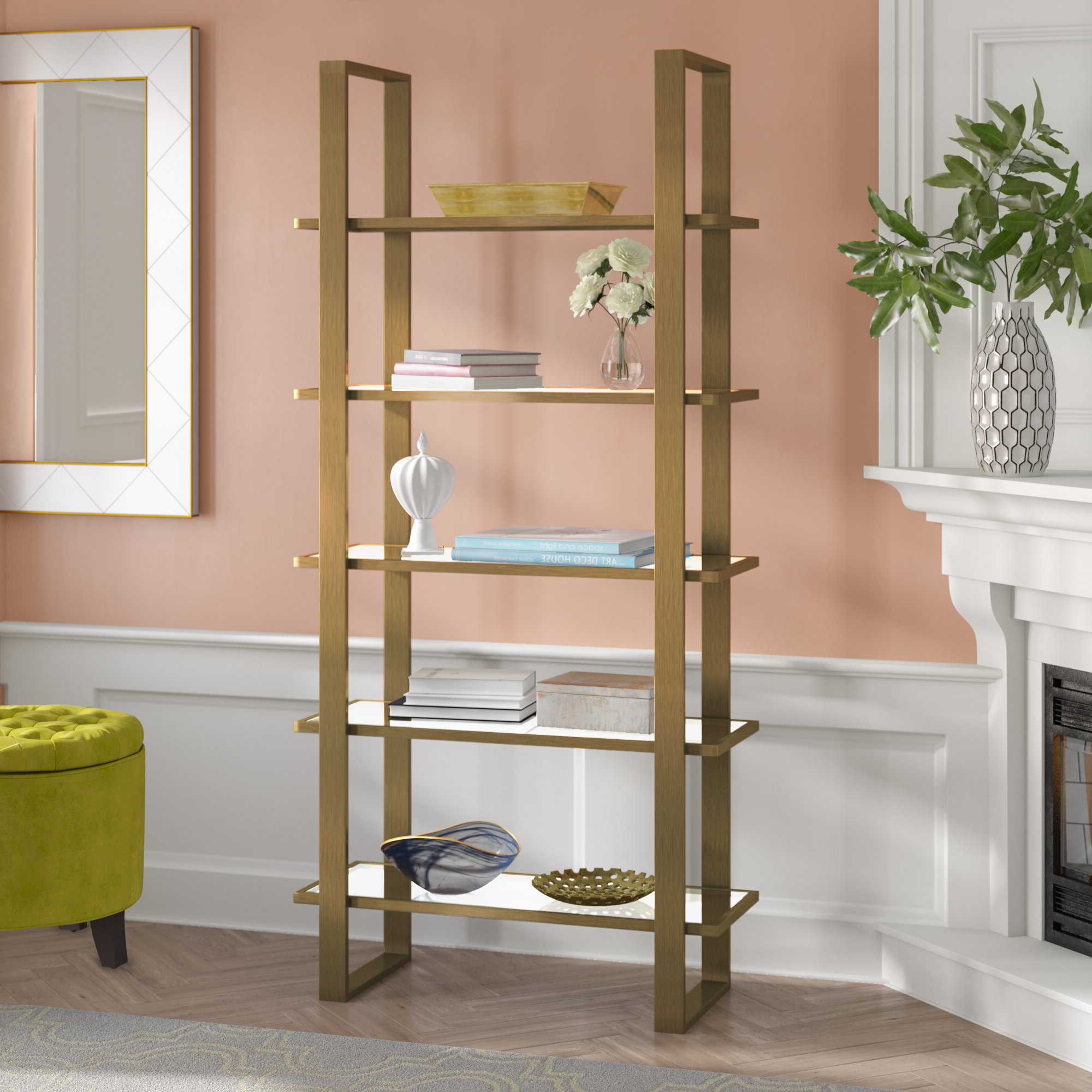 Abdallah Etagere Bookcase Inside Most Recent Destiny Etagere Bookcases (View 17 of 20)